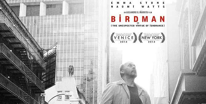 """Wysoki lot """"Birdmana"""", reż. Alejandro González Iñárritu, 2014"""